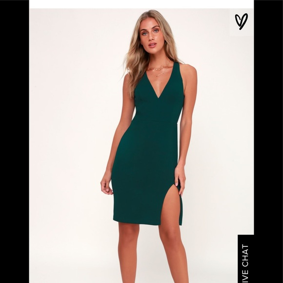 f37a3137fdf Lulu s Dresses   Skirts - Lulu s Forest Green Backless Bodycon Dress